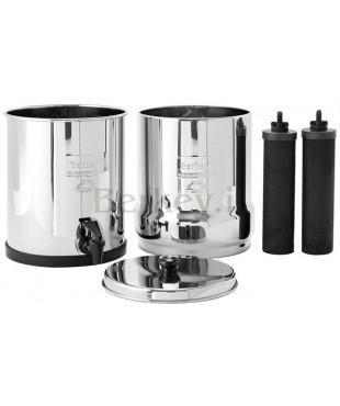 BIG BERKEY : Filtro d'acqua con  i suoi due filtri Black Berkey inclusi (Rif. :  BK4X2-BB).
