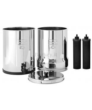 ROYAL BERKEY : Filtro d'acqua con  i suoi due filtri Black Berkey inclusi (Rif. :  RB4X2-BB).