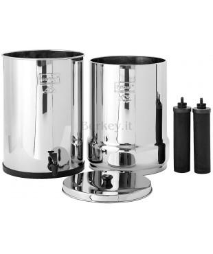 CROWN BERKEY : Filtro d'acqua con i suoi due filtri Black Berkey inclusi (Rif. :  CRN8X2-BB).