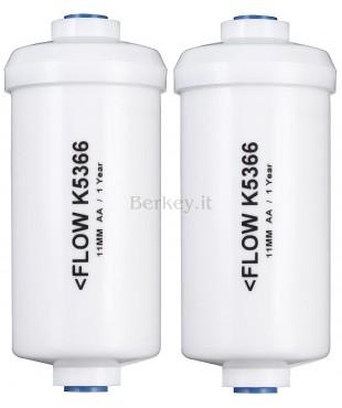 PF-2 : Paio di filtri opzionali per fluor, arsenic e ioni di metalli pesanti